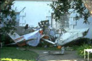 Frank Corder piloted this Cessna, which crashed into the White House lawn and skidded up to the side of the building.