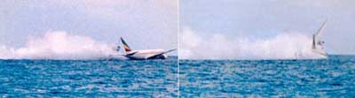 A hijacked airliner crashes into the shallow waters off the coast of a resort in the Comoros Islands.