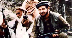 Congressman Dana Rohrabacher (right) in Afghanistan in 1988.