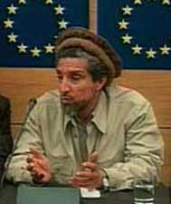 Ahmed Shah Massoud speaking before European Parliament.