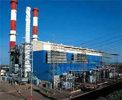 The Dabhol power plant.