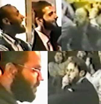 Video footage of Said Bahaji&#8217;s wedding in October 1999. Clockwise from top left: Ramzi bin al-Shibh, Said Bahaji, Mamoun Darkazanli, Ziad Jarrah, and Marwan Alshehhi.