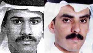 Nawaf Alhazmi (left), and Khalid Almihdhar (right).