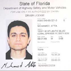 The most famous image of Mohamed Atta came from his Florida driver's license.