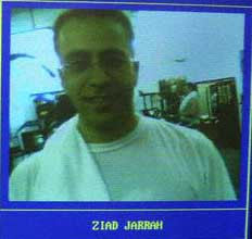 Ziad Jarrah's computer record at the US1 Fitness gym.
