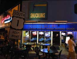 Shuckums bar and grill, in Hollywood, Florida.