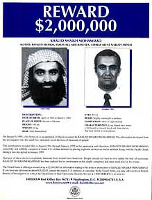 FBI reward notice for Khalid Shaikh Mohammed.