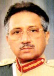 Pakistani President Pervez Musharraf.