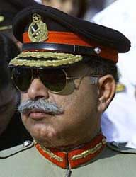 Lieutenant General Mahmood Ahmed in 2000.