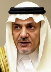 Prince Turki al-Faisal.
