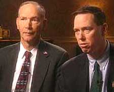 FBI agents John Vincent (left), and Robert Wright (right) appear on ABC News.
