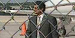 Khalil bin Laden at the Orlando, Florida, airport, about to be flown out of the country in the days after 9/11.