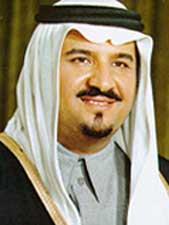 Saudi Defense and Aviation Minister Prince Sultan bin Abdul Aziz.
