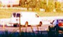 The white van used by five Israeli agents as they were leaving New York on 9/11.
