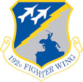 Logo of the 192nd Fighter Wing.