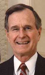 President George Herbert Walker Bush.