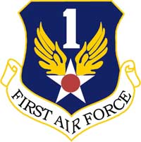 Logo of the 1st Air Force.