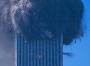 One of the 'puffs of smoke' observed during the Twin Towers collapses.