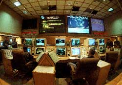 NORAD's war room in Cheyenne Mountain, Colorado
