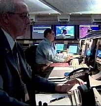 The FAA Command Center, the center of daily management of the US air traffic system. On 9/11 it is managed by Ben Sliney (not pictured here).