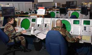 National Guard troops stationed at NORAD&#8217;s Northeast Air Defense Sector (NEADS) in Rome, New York.