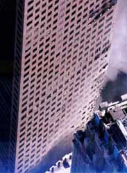 Damage to World Trade Center Building 7.