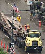 Steel beams from the WTC were already being removed and recycled on September 20, 2001.