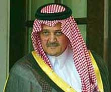 Saudi Foreign Minister Saud al-Faisal after meeting Bush over the 9/11 Congressional Inquiry's report.