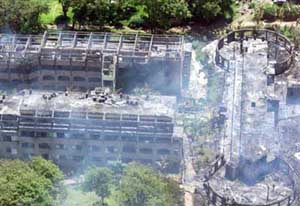 Destruction at the Paradise Hotel, Mombasa, Kenya.