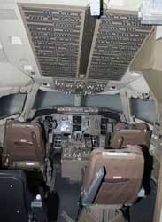 The Pan Am Boeing 767 flight simulator used by the hijackers.