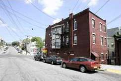 The apartment building in Paterson, New Jersey, where some of the hijackers lived.