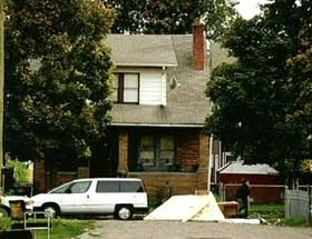 The Detroit house where Nabil al-Marabh used to live and where Karim Koubriti, Ahmed Hannan, and Farouk Ali-Haimoud are arrested.