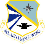 Logo of the 552nd Air Control Wing.
