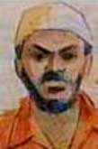 A courtroom artist's depiction of Mahmoud Jaballah.