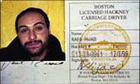 Raed Hijazi's Boston taxi license.