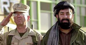 Gul Agha with US General D. K. McNeill.