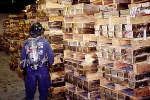 The Bank of Nova Scotia gold vault, located under WTC Building 4, is examined in late October 2001.