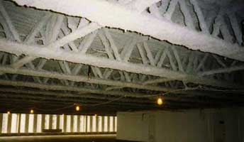 Insulated trusses in the World Trade Center.