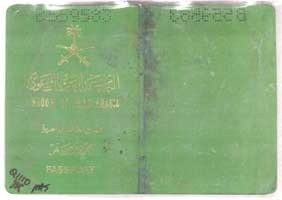 Satam Al Suqami's remarkably undamaged passport, marked and wrapped in plastic. It is shown as evidence in the 2006 Zacarias Moussaoui trial.