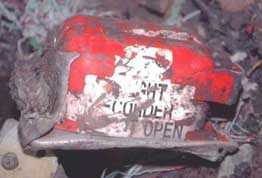 Flight 93's damaged but successfully recovered cockpit voice recorder.