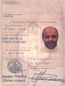The information sent by the French included a photocopy of this page of Moussaoui's French passport.