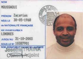 Zacarias Moussoui&#8217;s French national identification card.