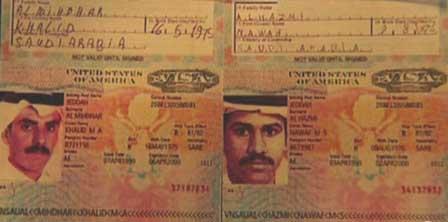 Nawaf Alhazmi and Khalid Almihdhar's US visas.