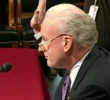 Richard Clarke sworn in before the 9/11 Commission.