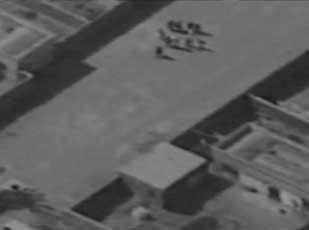 The first Predator flight over Afghanistan on September 7, 2000 captures bin Laden circled by security in his Tarnak Farms complex.