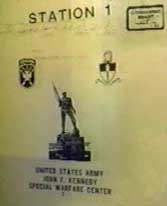 One of the documents stolen by Ali Mohamed found in El-Sayyid Nosair's residence. At the bottom are the words: 'United States Army. John F. Kennedy Special Warfare Center.'