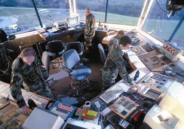 Offutt Air Force Base control tower during Global Guardian 1998.