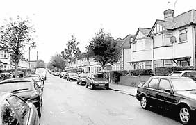 Dollis Hill, the London street where Khalid al-Fawwaz runs bin Laden's de facto press office.