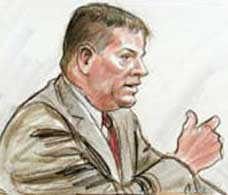 FBI agent Harry Samit testifying at the Moussaoui trial.