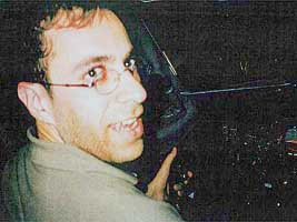 Ziad Jarrah using a flight simulator in January 2001.